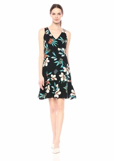 Karen Kane Women's Ruffle Hem Dress