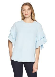 Karen Kane Women's Ruffle Sleeve TOP