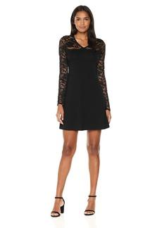 Karen Kane Women's Scallop Lace Contrast Dress  XL