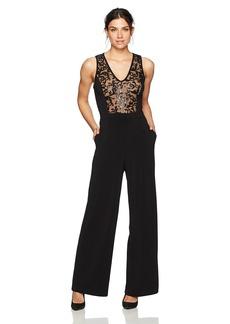 Karen Kane Women's Sequin Inset Jumpsuit  XL