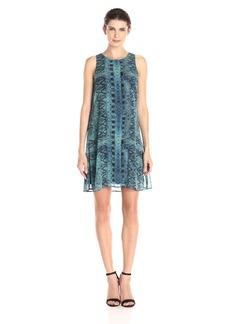 Karen Kane Women's Sheer Diamond-Tile Dress