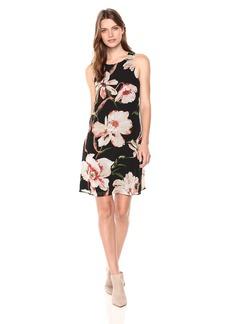 Karen Kane Women's Sheer Floral Dress