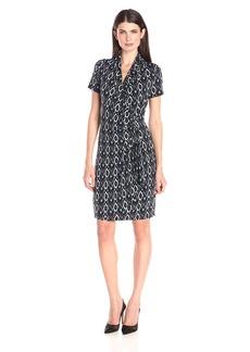 Karen Kane Women's Short Sleeve Cascade Wrap Dress