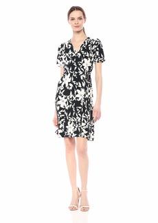Karen Kane Women's Short Sleeve Faux WRAP Dress  Extra Small