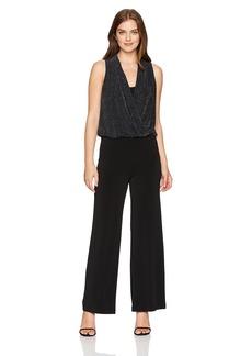 Karen Kane Women's Sparkle Knit Palazzo Jumpsuit  S