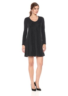 Karen Kane Women's Sparklet Knit Taylor Dress  L