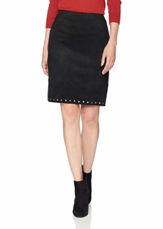 Karen Kane Women's Studded Faux Suede Skirt  Extra Large