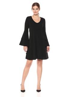 Karen Kane Women's Tiered Bell Sleeve Dress  M