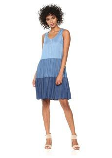 Karen Kane Women's Tiered Chambray Dress  L
