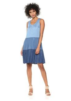 Karen Kane Women's Tiered Chambray Dress  M