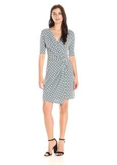 Karen Kane Women's Tile Crossover Drape Dress  XS