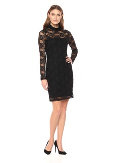 Karen Kane Women's Turtleneck Lace Dress  M