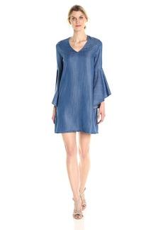 Karen Kane Women's V-Neck Bell Sleeve Dress  M