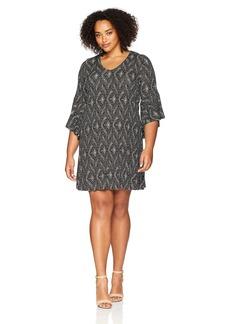 Karen Kane Women's V-Neck Bell Sleeve Dress  XS