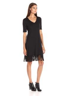 Karen Kane Women's V-Neck Fringe Dress