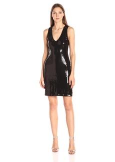 Karen Kane Women's V-Neck Sequin Sheath Dress  L