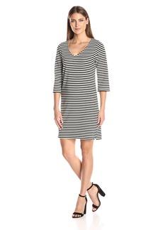 Karen Kane Women's V-Neck Shift Dress  L