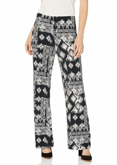 Karen Kane Women's Wide-Leg Pants Black with Off White