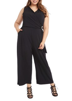 Karen Kane Wrap Front Sleeveless Jumpsuit (Plus Size)