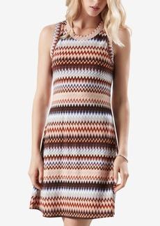Karen Kane Zig-Zag Printed Sleeveless Dress