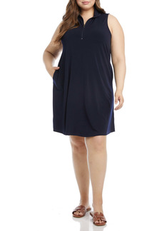 Karen Kane Zip-Up Shift Dress (Plus Size)