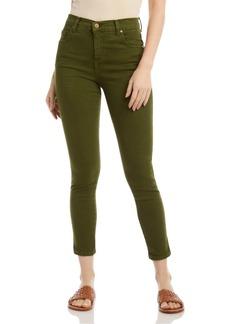 Karen Kane Zuma Cropped Skinny Jeans in Olive