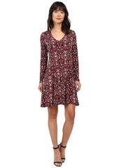 Karen Kane Long Sleeve Fit & Flare Dress