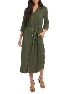 Karen Kane Long-Sleeve Midi Shirtdress