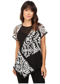 Karen Kane Multi-Lace Panel Top