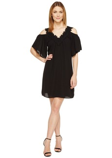 Karen Kane Neck Trim Cold Shoulder Dress