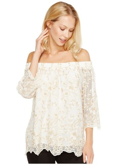 Karen Kane Off the Shoulder Embroidery Top