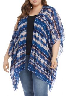 Plus Size Women's Karen Kane Tie Dye Open Front Jacket
