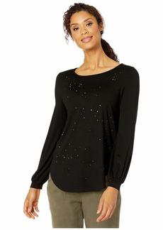 Karen Kane Rhinestone Shirttail Top