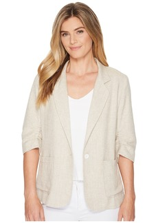 Karen Kane Ruched Sleeve Jacket
