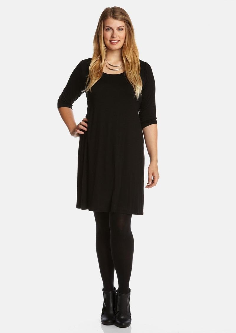 Karen Kane Scoop Neck Jersey Dress (Plus Size)