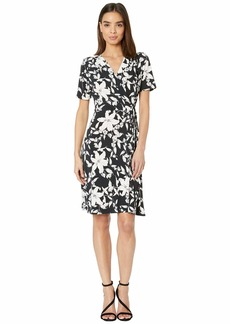 Karen Kane Short Sleeve Faux Wrap Dress