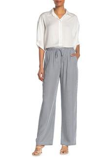 Karen Kane Stripe Drawstring Wide Leg Pants