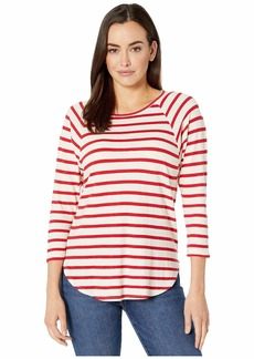 Karen Kane Striped 3/4 Raglan Sleeve Tee