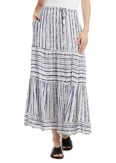 Karen Kane Tie-Dyed Tiered Midi Skirt