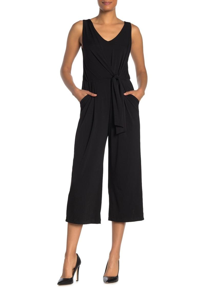 Karen Kane Tie Front Stretch Knit Jumpsuit