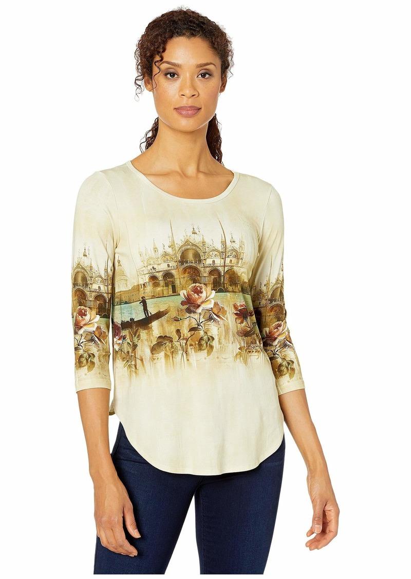 Karen Kane Venice Canal Shirttail Tee