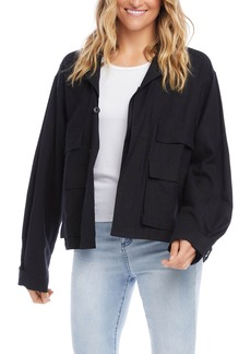 Women's Karen Kane Linen Blend Cargo Jacket