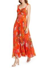 Karen Millen Botanical Print Maxi Silk Dress