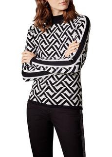 KAREN MILLEN Abstract Jacquard Sweater