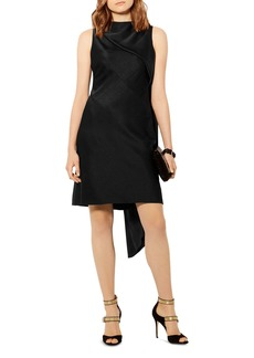 KAREN MILLEN Asymmetric-Drape Shift Dress
