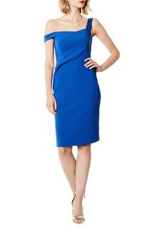 KAREN MILLEN Asymmetric Sheath Dress