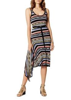 KAREN MILLEN Asymmetric Striped Dress