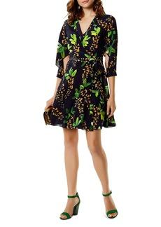 KAREN MILLEN Botanical Silk Wrap Dress