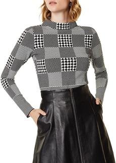 KAREN MILLEN Check Sweater