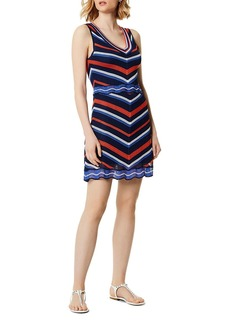 KAREN MILLEN Chevron Pointelle Dress